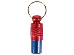 Adresář pro psy kovový, červeno-modrý