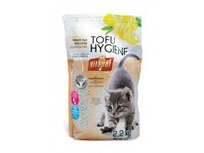 Podestýlka TOFU citrónová, hrudkující pro kočky 3,8 L - DOPRODEJ