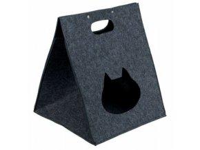 Plstěný box/jeskyně ANTONIA 40x48x40 antracit - DOPRODEJ