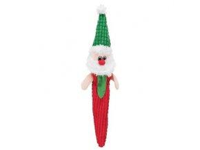 Vánoční plyšový Santa Claus/Sob/Sněhulák šustící 56 cm