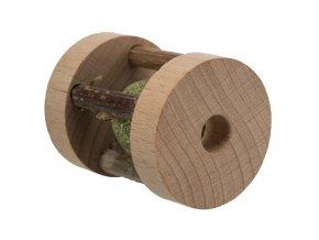 Váleček s kuličkou MATATABI - ježek v kleci, ø 4 × 5 cm