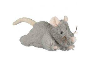 Plyšová myš šedá, robustní 15cm