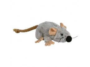 Plyšová myška šedá s catnipem7 cm