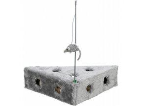 Hračka sýr Ementál s myškou 36x8x26/26cm