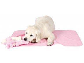 Sada pro štěňata - deka se dvěma hračkami 76x50 cm, světle modrá - DOPRODEJ