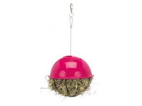 Závěsný míč na potravu napůl plastový/pletivo 16 cm