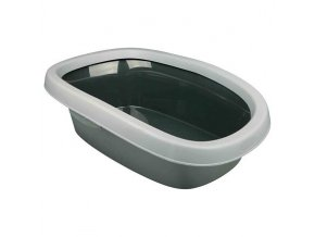 WC pro kočky CARLO 2 38x17x58cm, - sv. šedá/tm. šedá