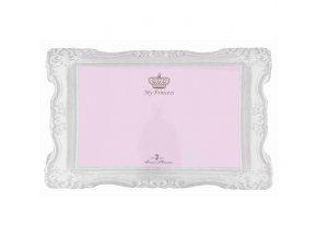 Prostírání MY PRINCESS - gumová podložka 44 x 28 cm růžová - DOPRODEJ
