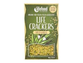 Life Crackers s medvědím česnekem 90 g BIO LIFEFOOD