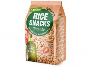Rýžový slaný snack z hnědé rýže Tomato 50g