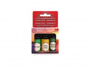 Esenciální oleje set Domácnost dezinfekce 3x10ml
