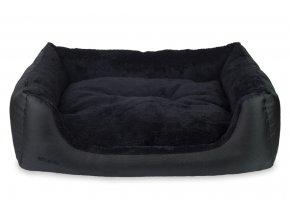 Pelech pro psa Argi obdélníkový s polštářem - Aspen - černý - 90 x 72 x 22 cm