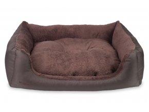 Pelech pro psa Argi obdélníkový s polštářem - Aspen - hnědý - 78 x 64 x 19 cm