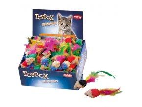 Hračka cat textil myška 140ks display Nobby
