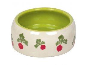 Miska hlod. keramická zeleno-bílá, ředkvičky 500ml