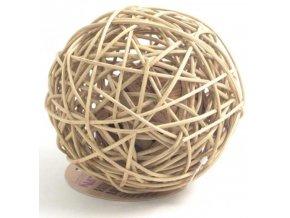 Hračka hlod. přírodní ratan koule Rosewood 15cm