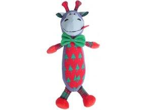 Hračka vánoční kráva 38 cm RW 1ks