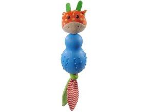 Hračka plyš + guma LN žirafa RW