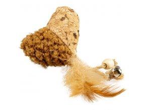 Hračka cat korkové srdce 13cm Duvo+