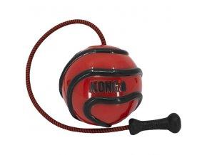 Hračka guma Wavz míč se šňůrkou KONG M
