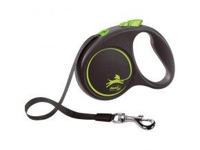 Flexi Black Design S pásek 5 m zelené 15 kg