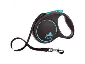 Flexi Black Design L pásek 5 m modré 50 kg