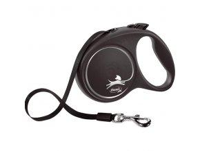 Flexi Black Design L pásek 5 m černé 50 kg