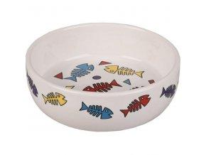 Miska cat keramika color fish 375ml Flamingo