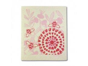 More Joy Pratelná univerzální utěrka - Růžový květ