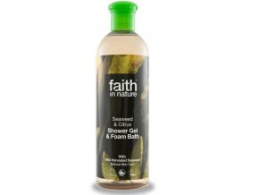 Faith in Nature 2v1 Mořská řasa a citrus sprchový gel a pěna do koupele 400 ml