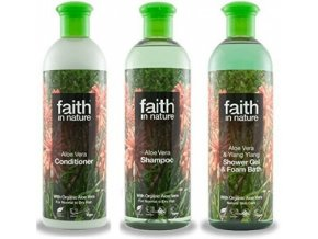 Faith in Nature Koupelová sada BIO Aloe Vera 3X250 ml