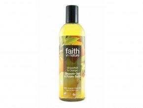 Faith in Nature 2v1 BIO Grapefruit a Pomeranč sprch. gel a pěna do koupele 250 ml
