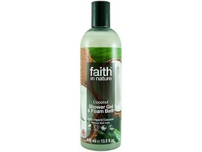 Faith in Nature 2v1 BIO kokosový sprchový gel a pěna do koupele 400 ml