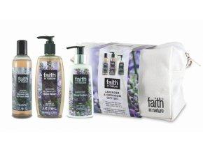 Faith in Nature - dárková sada v taštičce Levandule 3ks