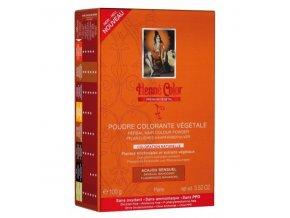 Henné Color - Barva na vlasy Smyslná Mahagonová Premium Végétal 100 g
