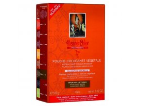 Henné Color - Barva na vlasy Rozkošná Hnědá Premium Végétal 100 g
