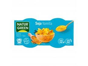 Dezert sójový s vanilkovou příchutí 2x125g BIO NATURGREEN