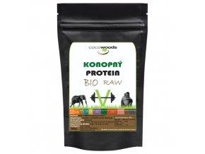 Konopný protein BIO a RAW 50 Cocowoods