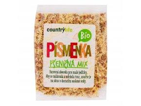 Těstoviny písmenka pšeničná mix 250g BIO COUNTRYLIFE