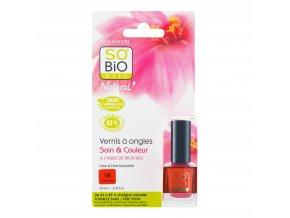 Lak na nehty 08 oranžová 10 ml   SO´BIO étic