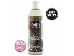 Faith in Nature 2v1 BIO kokosový sprchový gel a pěna do koupele 250 ml