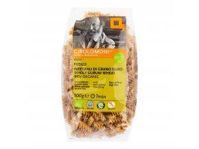 Těstoviny fusilli celozrnné semolinové 500g BIO    GIROLOMONI
