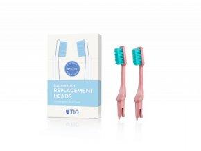 TIO Náhradní hlavice k zubnímu kartáčku (ultra soft) (2 ks) - korálově růžová
