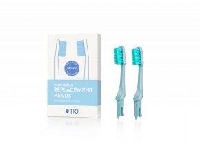 TIO Náhradní hlavice k zubnímu kartáčku (ultra soft) (2 ks) - ledovcově modrá