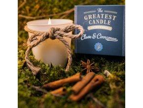 The Greatest Candle Sada - 1x svíčka (130 g) + 2x náplň - hřebíček a skořice doma si vyrobíte dvě další svíčky