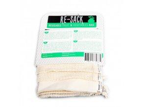 Re-Sack 3pack - balíček sáčků na ovoce, zeleninu a pečivo (3 ks)