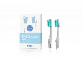TIO Náhradní hlavice k zubnímu kartáčku (medium) (2 ks) - oblázkově šedá