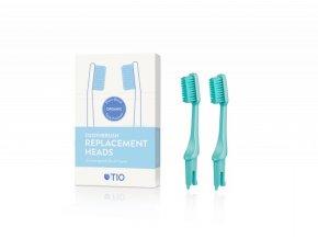 TIO Náhradní hlavice k zubnímu kartáčku (medium) (2 ks) - tyrkysově zelená