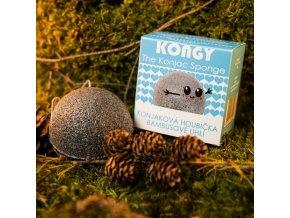 Kongy Konjaková houbička - bambusové uhlí pro mastnou a aknózní pleť