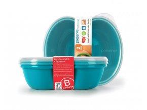 Preserve Svačinový box (2 ks) - modrý ze 100% recyklovaného plastu
